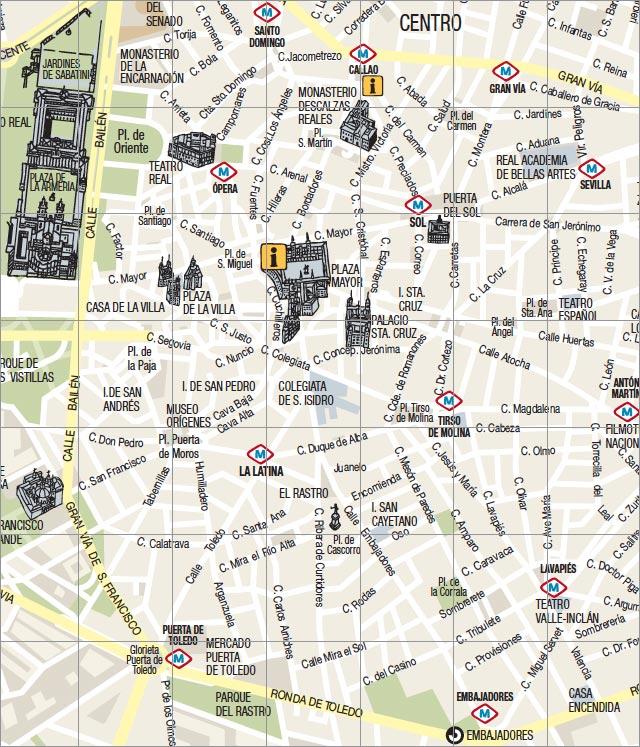 Centro De Madrid Mapa.Mapa De Madrid