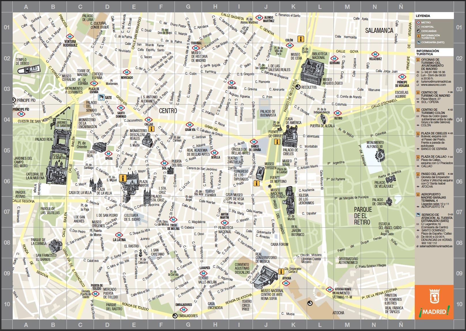 Mapa De Madrid Centro.Madrid Lessons Tes Teach