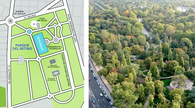 Plano Parque Del Retiro Mapa.El Parque Del Retiro