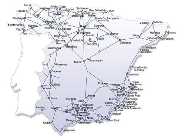mapa de autobuses ALSA