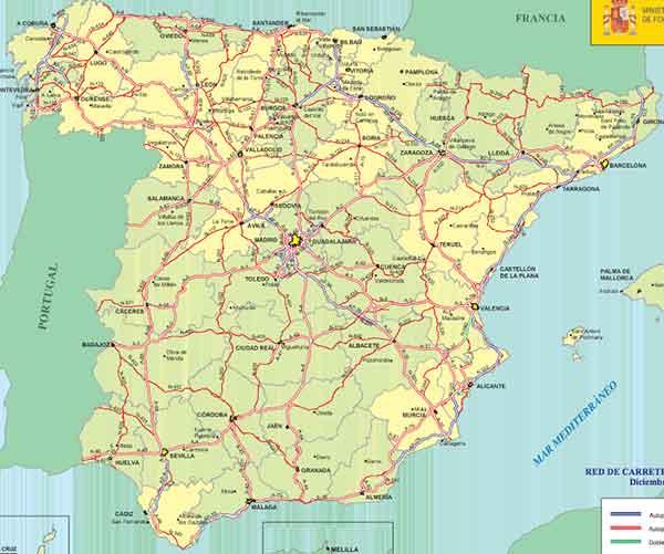 mapa de autovías de España
