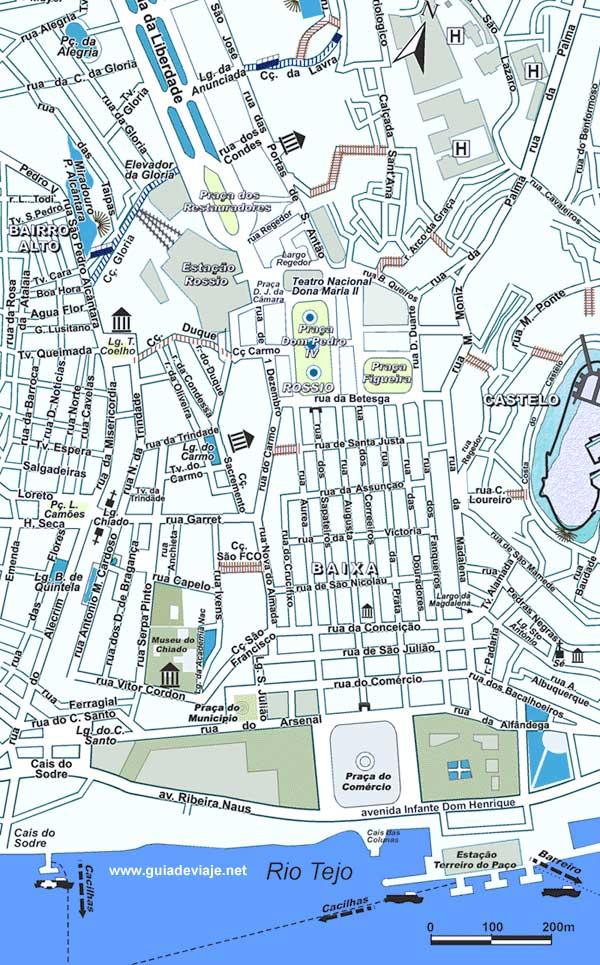 Plano de Lisboa Mapa y callejero