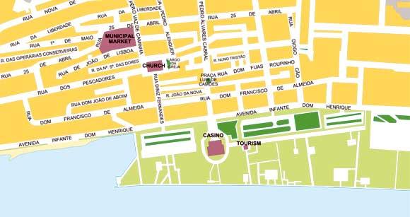 mapa monte gordo Guía de Monte Gordo mapa monte gordo