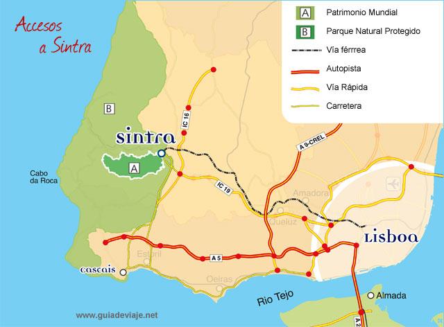 sintra portugal mapa Mapa De Lisboa Sintra   thujamassages sintra portugal mapa