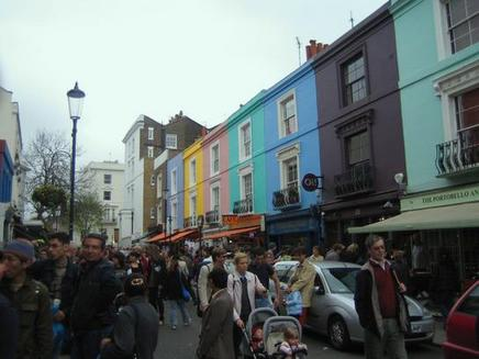 fotografía del Mercadillo de Portobello, Londres. Portobello Road
